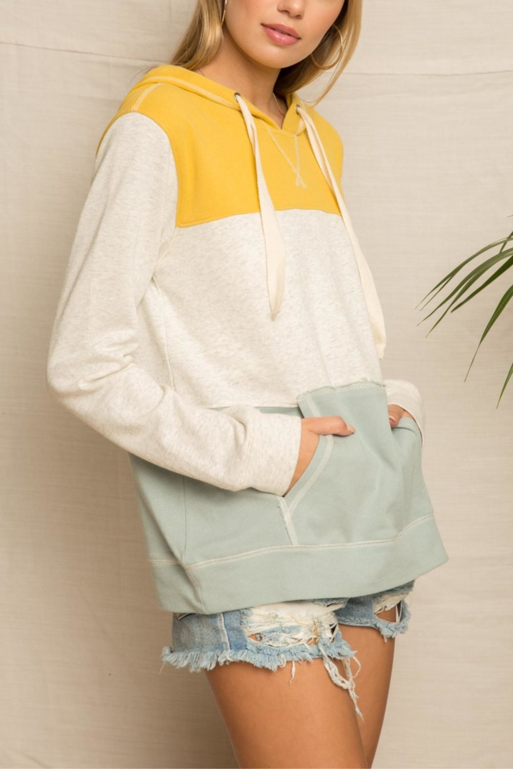 Hem & Thread Bannana Slug Hoodie - Side Cropped Image