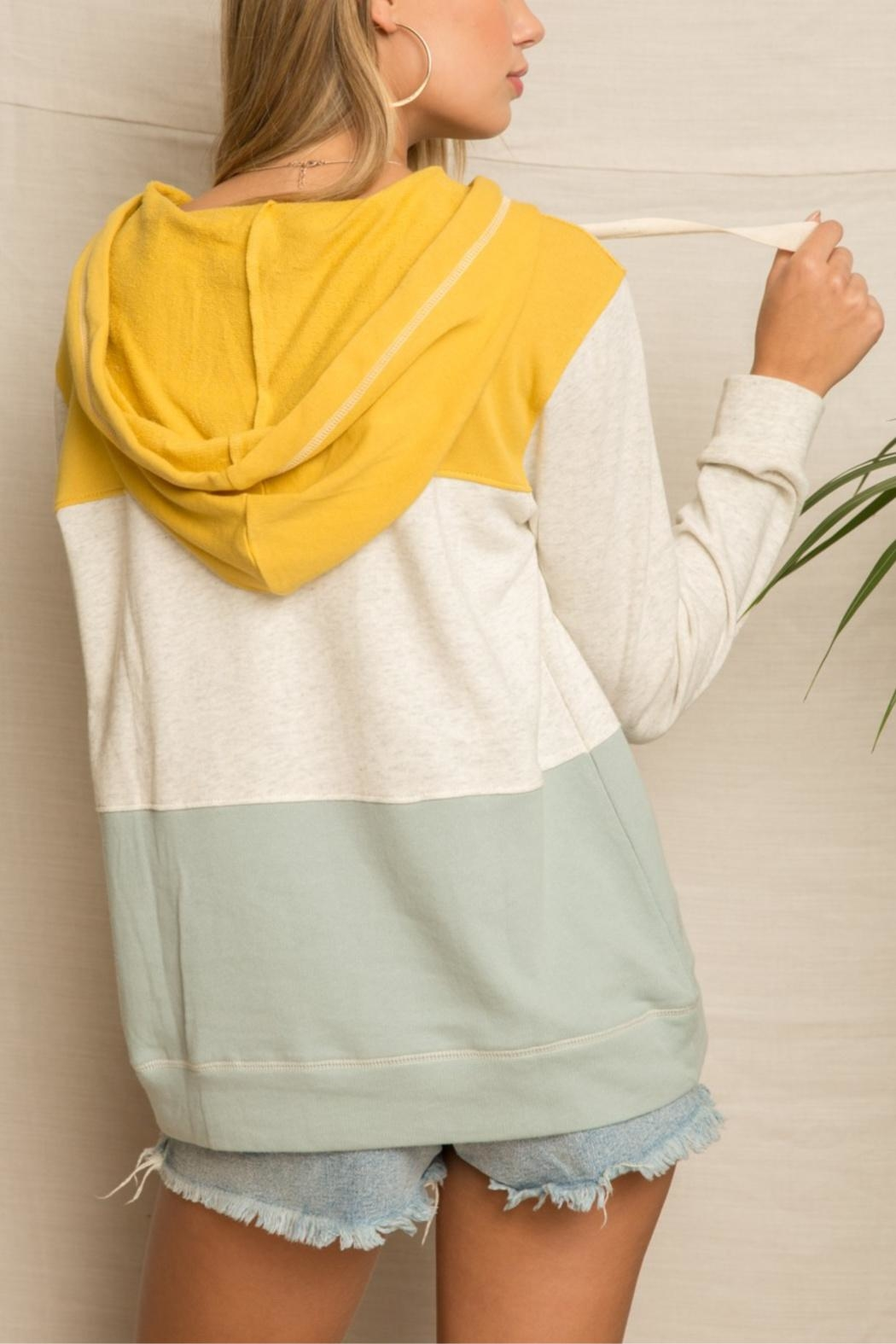 Hem & Thread Bannana Slug Hoodie - Back Cropped Image