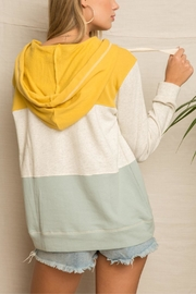 Hem & Thread Bannana Slug Hoodie - Back cropped