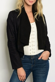 Hem & Thread Black Cropped Jacket - Product Mini Image