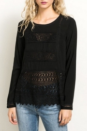 Hem & Thread Black Lacey Top - Product Mini Image
