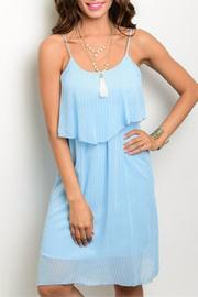 Hem & Thread Blue Ruffle Dress - Product Mini Image