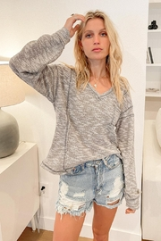 Hem & Thread Boucle Relaxed Top - Front cropped