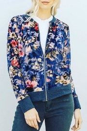 Hem & Thread Burnout Velvet Bomber-Jacket - Product Mini Image