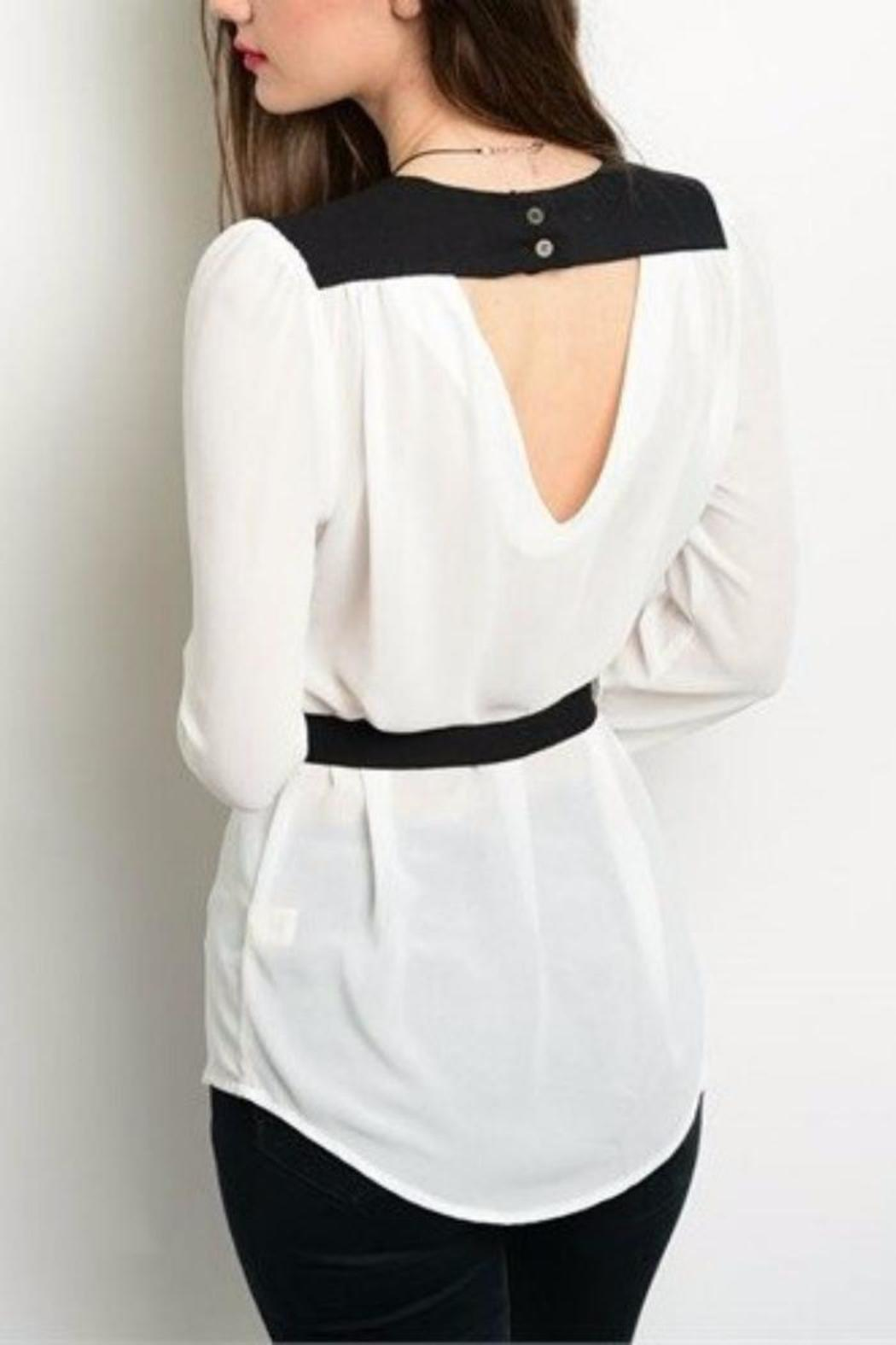 Hem & Thread Button Down Top - Front Full Image