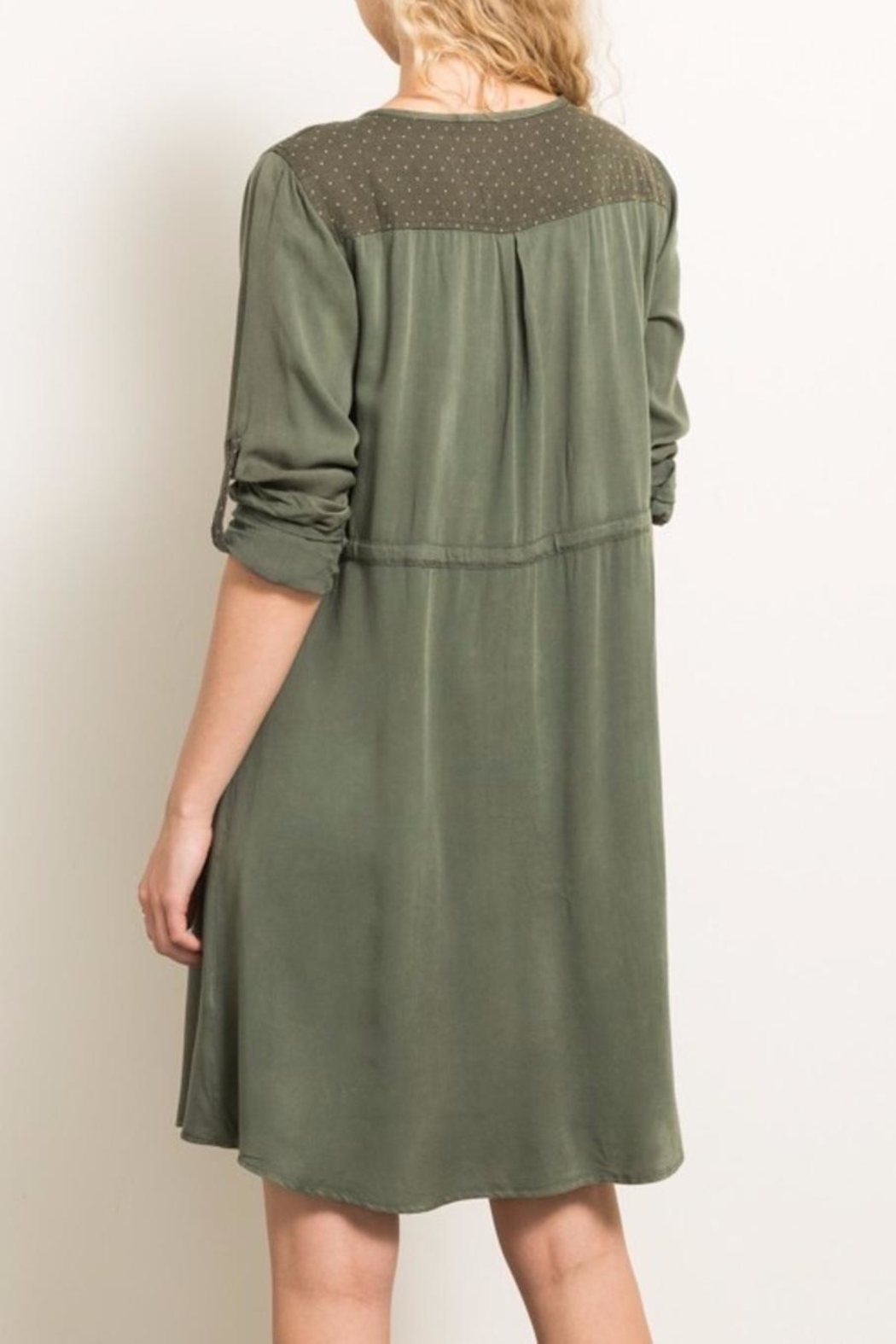 Hem & Thread Button-Down Dress - Front Full Image