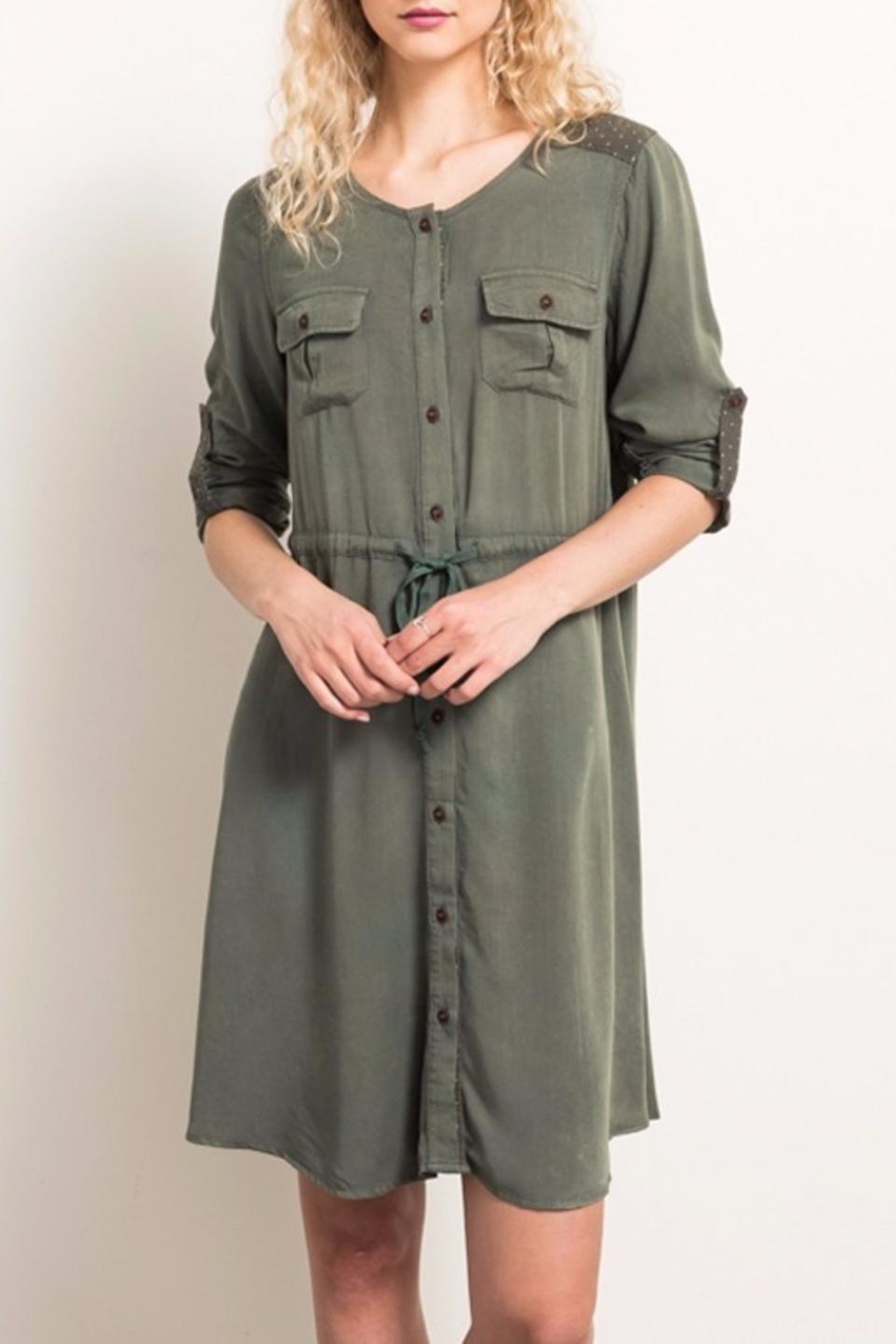 Hem & Thread Button-Down Dress - Front Cropped Image