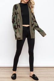 Hem & Thread Camo Open Cardigan - Product Mini Image