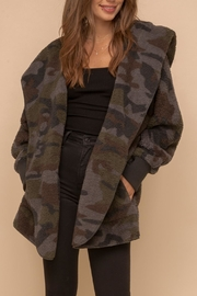 Hem & Thread Camo Sherpa Hooded Jacket - Product Mini Image