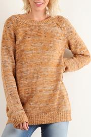 Hem & Thread Carmel Melange Sweater - Product Mini Image