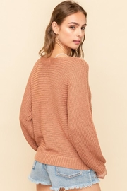 Hem & Thread Caught Up Sweater - Back cropped