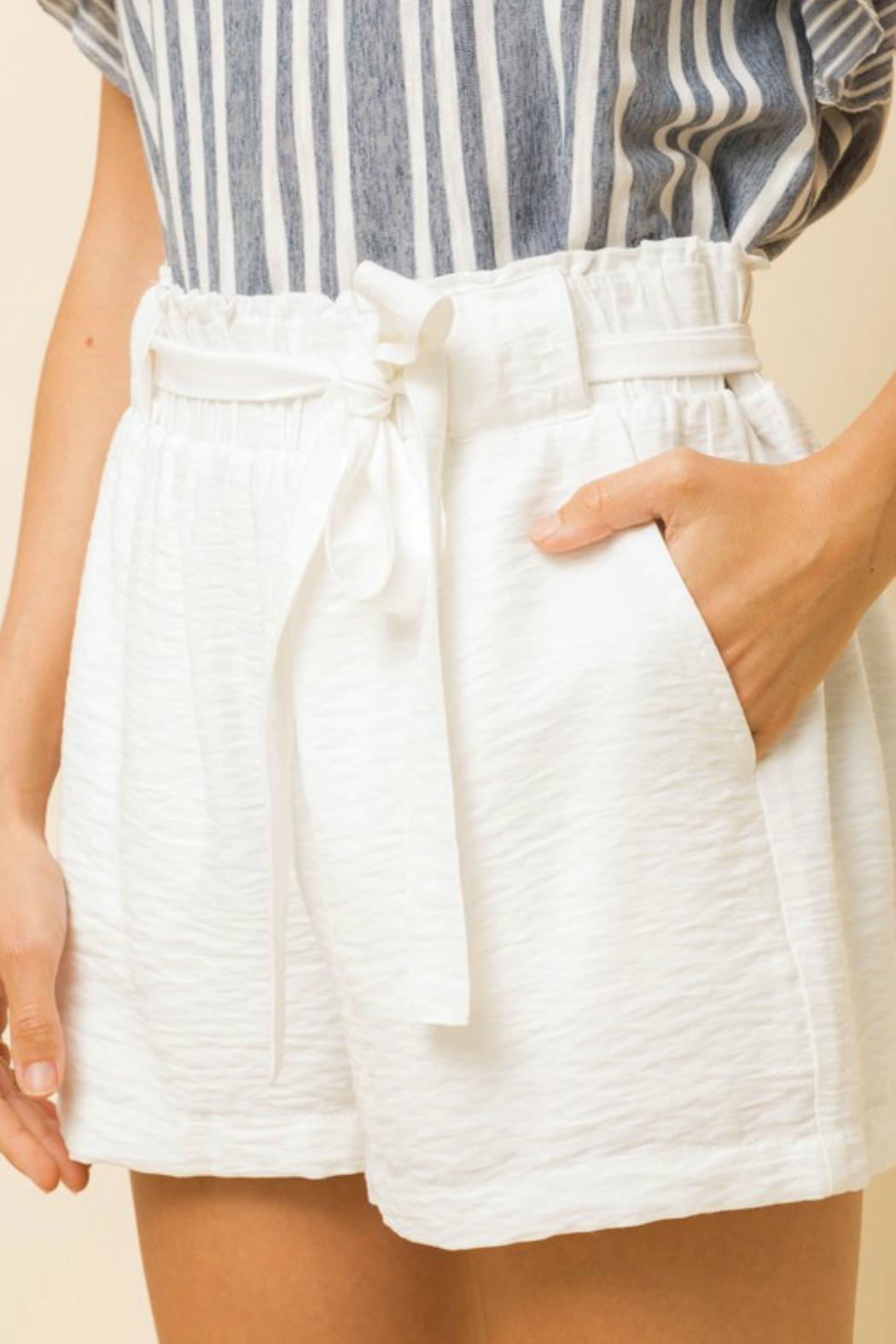 Hem & Thread Charlie Tie-Waist Shorts - Back Cropped Image