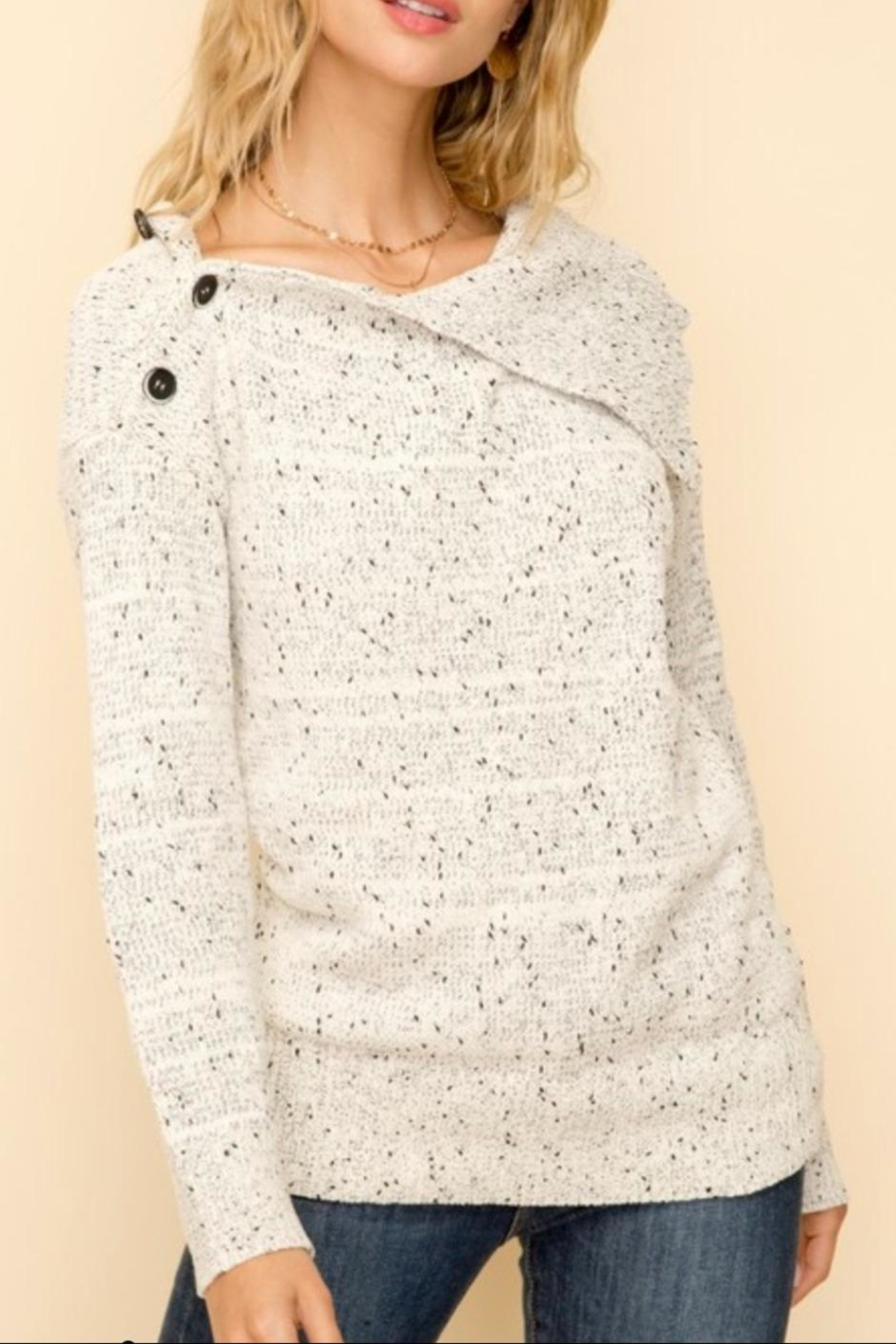 Hem & Thread Chenille Turtleneck Sweater - Main Image