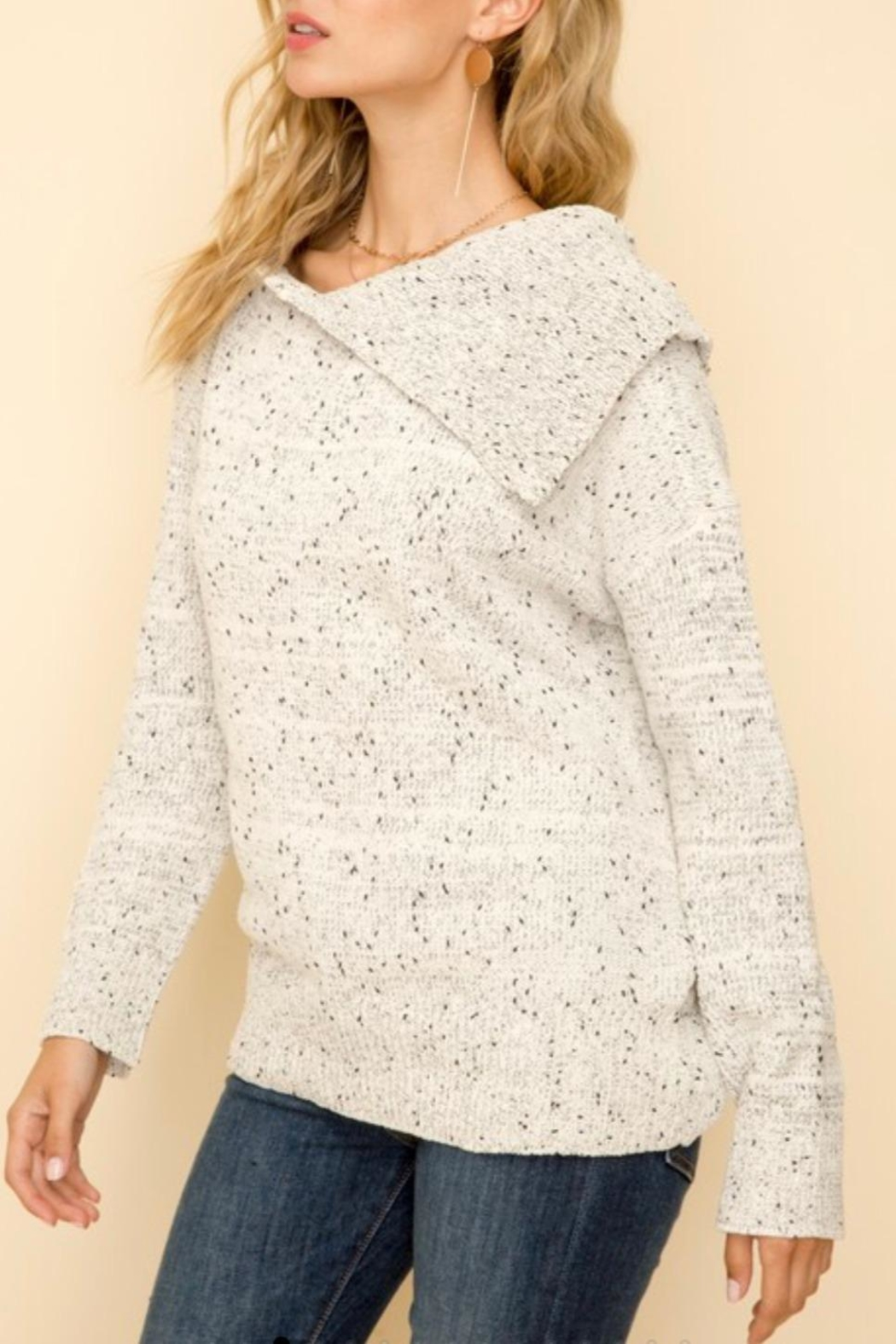 Hem & Thread Chenille Turtleneck Sweater - Front Full Image