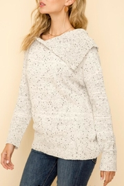 Hem & Thread Chenille Turtleneck Sweater - Front full body