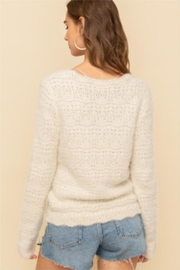 Hem & Thread Chinched Crop Sweater - Front full body