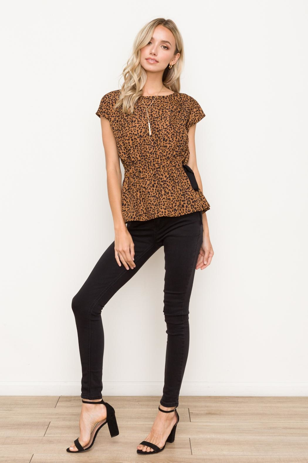 Hem & Thread Cinched Waist Top - Back Cropped Image