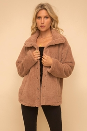 Hem & Thread Cocoa Sherpa Jacket - Front cropped