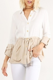 Hem & Thread Color Block Buttondown - Product Mini Image