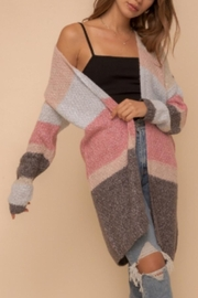 Hem & Thread Color Block Cardigan - Front cropped
