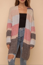 Hem & Thread Color Block Cardigan - Front full body