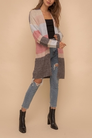 Hem & Thread Color Block Cardigan - Product Mini Image