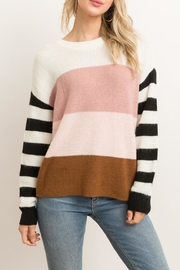 Hem & Thread Color Block Sweater - Product Mini Image