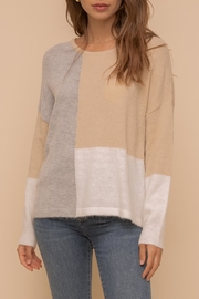 Hem & Thread Color Block Sweater-Top - Product Mini Image