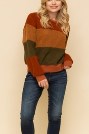 Hem & Thread Colorblock Fuzzy Sweater - Product Mini Image