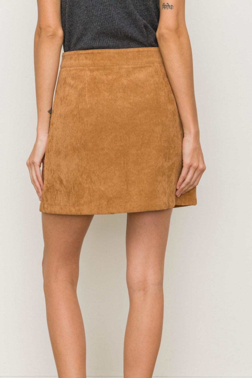 Hem & Thread Corduroy Mini Skirt - Front Full Image