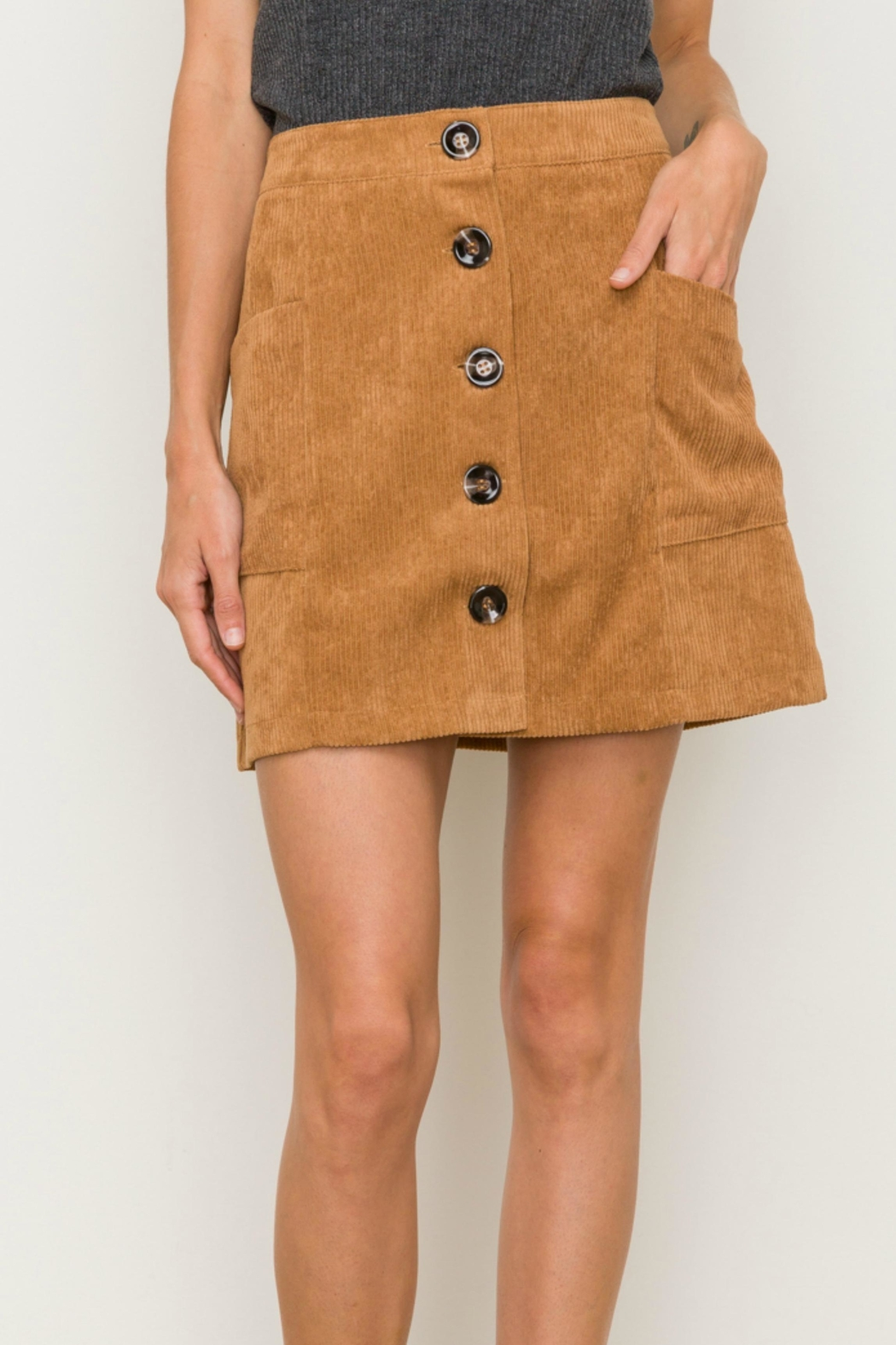 Hem & Thread Corduroy Mini Skirt - Main Image