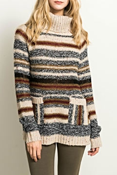 Shoptiques Product: Cowl Stripe Sweater