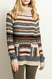 Hem & Thread Cowl Stripe Sweater - Product Mini Image