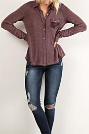 Hem & Thread Cozy Buttondown Top - Product Mini Image