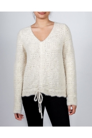 Hem & Thread Croched Cream Sweater - Product Mini Image