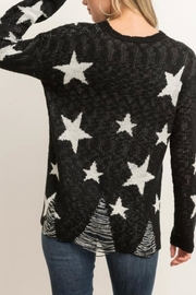 Hem & Thread Distressed Star Sweater - Back cropped