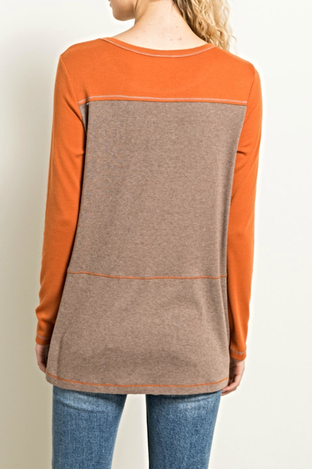 Hem & Thread Earthtones Tee Top - Front Full Image
