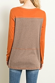 Hem & Thread Earthtones Tee Top - Front full body