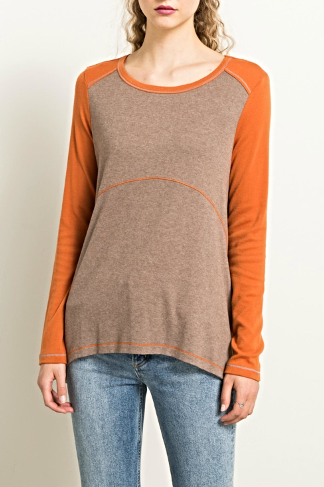 Hem & Thread Earthtones Tee Top - Main Image
