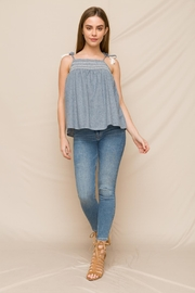 Hem & Thread Embroidered Smocked Top - Front cropped