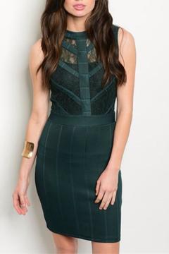 Shoptiques Product: Emerald Bodycon Dress