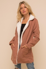 Hem & Thread Faux Fur Coat - Product Mini Image