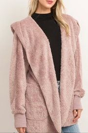 Hem & Thread Fur Open Jacket - Front cropped