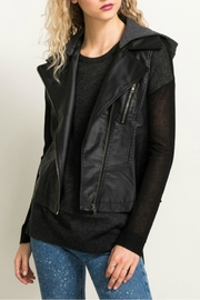 Hem & Thread Faux Leather Moto Vest - Product Mini Image