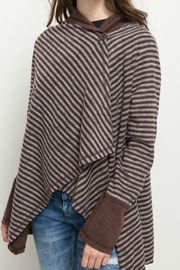 Hem & Thread Fleece Draped Cardigan - Product Mini Image