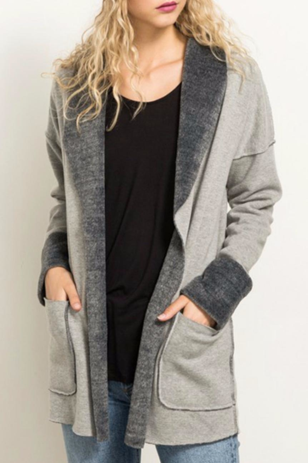 Hem & Thread Fleece Lined Jacket - Back Cropped Image