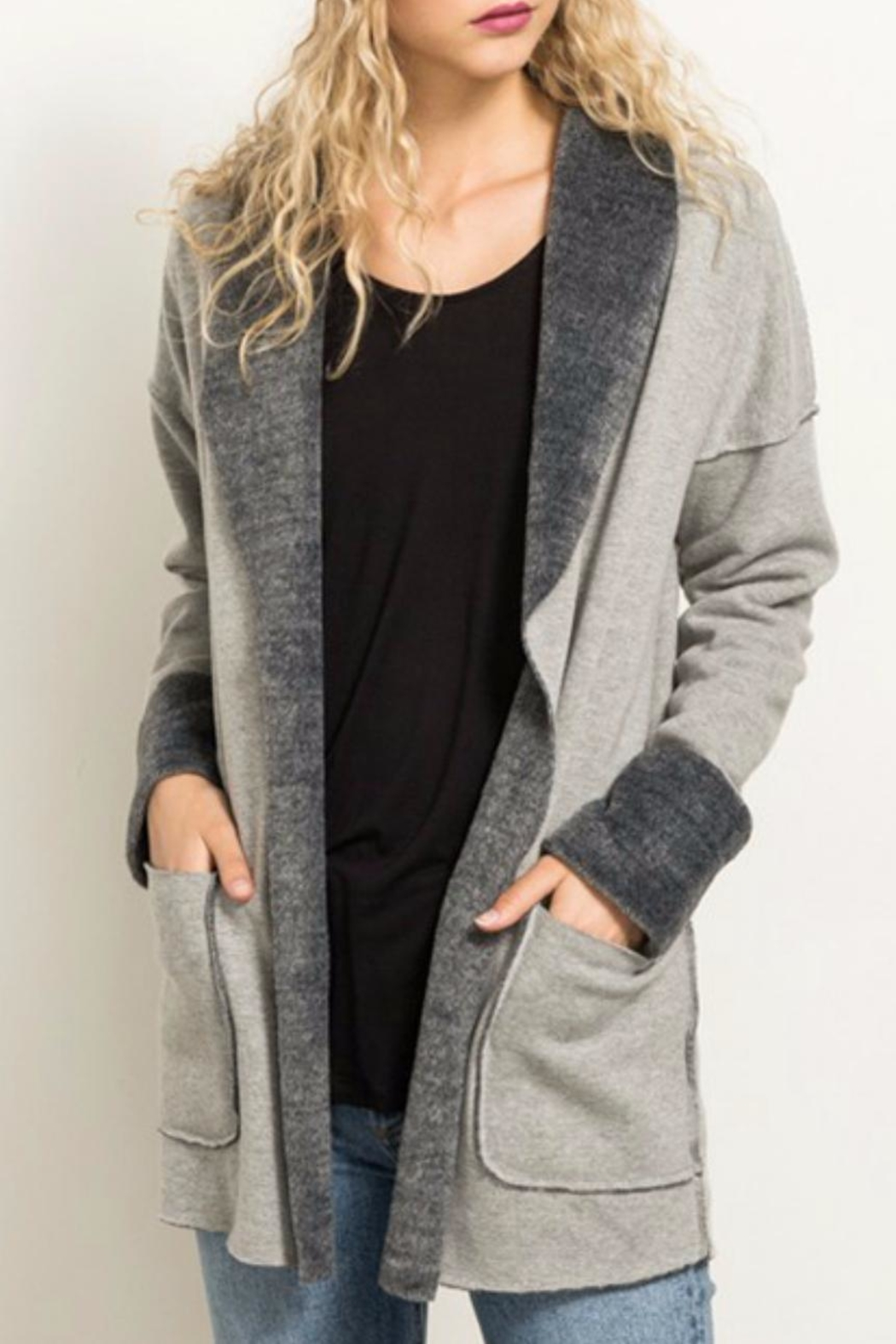 Hem & Thread Fleece Lined Jacket - Front Cropped Image