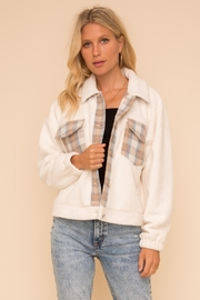 Hem & Thread Fleece & Plaid Jacket - Product Mini Image