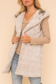 Hem & Thread Fleece Vest - Front cropped