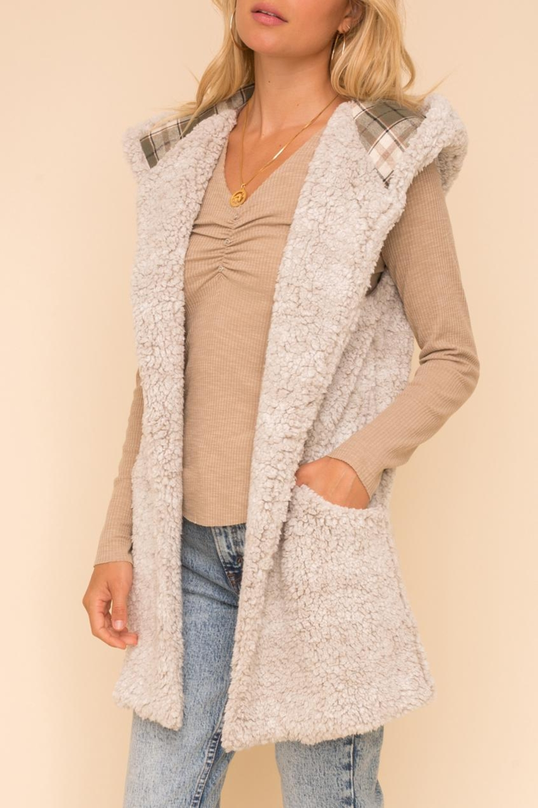 Hem & Thread Fleece Vest - Front Full Image